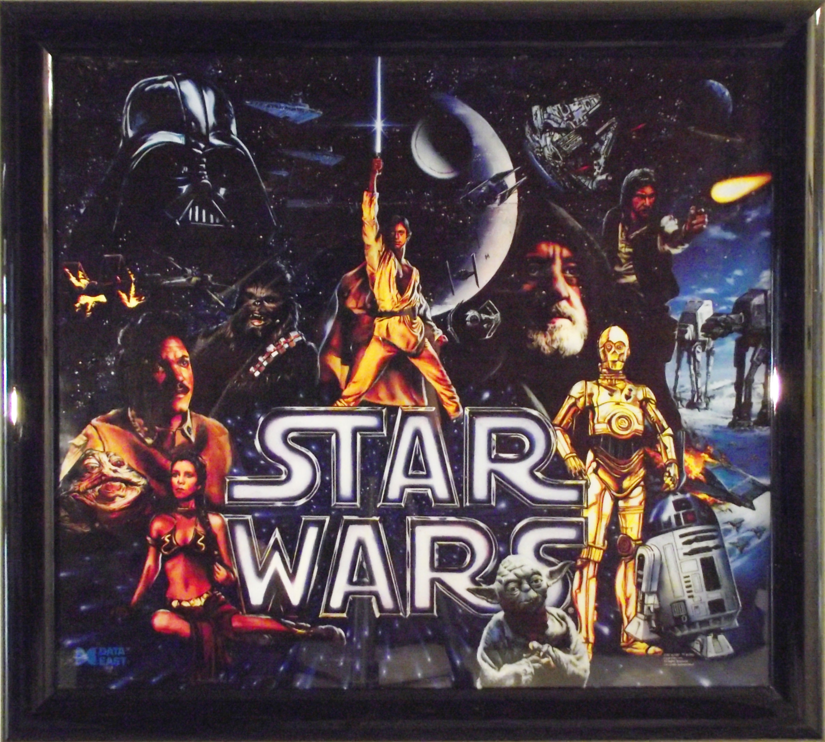 Star Wars pinball backglass art